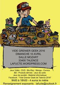 Vide grenier geek de Talence 2016