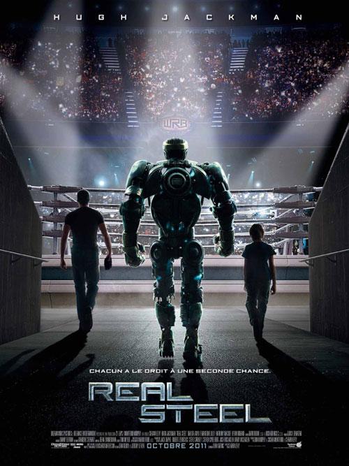 real steel affiche - Affiche Garcon Robot