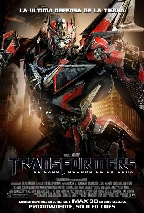 affiche spanish Transformers 3