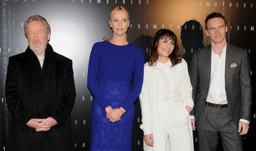 Ridley Scott, Charlize Theron, Noomi Rapace et Michael Fassbender