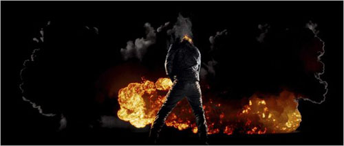 Ghost Rider fait pipi