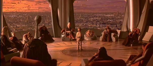 La menace fantôme: Anakin Skywalker (Jake Lloyd) dans le temple des jedis