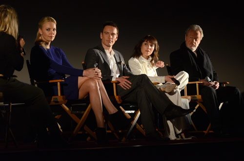 Charlize Theron, Michael Fassbender, Noomi Rapace et Ridley Scott