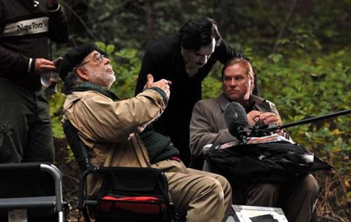 Coppola et Val Kilmer sur le tournage