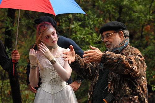 Coppola et Elle Fanning sur le tournage