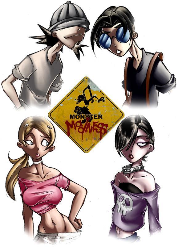 """Les 4 """"héros"""" du jeu"""