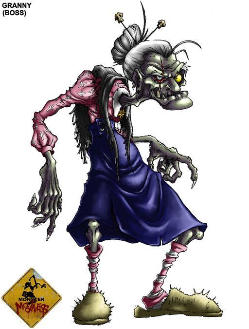 Exemple d'un monstre à l'aspect un peu loufoque