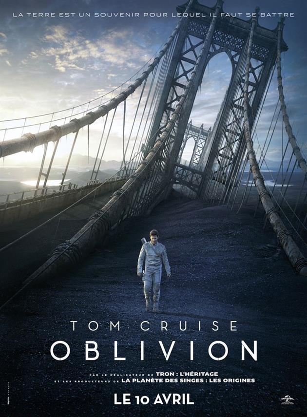 Affiche Teaser FR Oblivion - Pont de New York