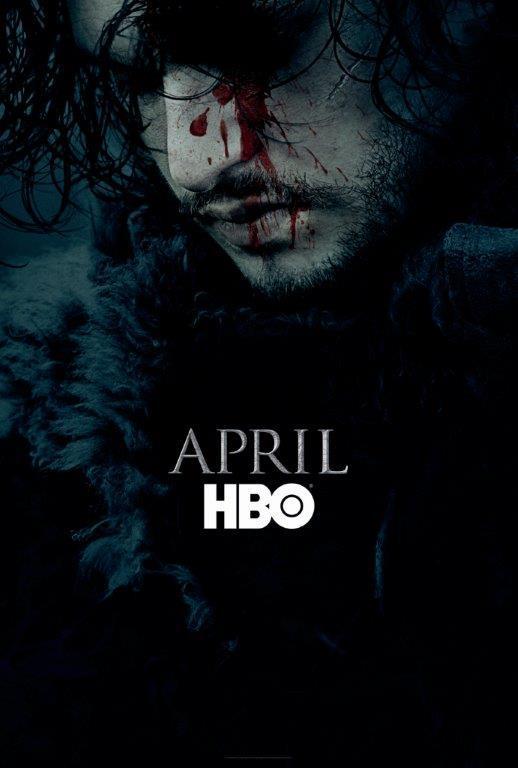 Affiche Promotionnelle teaser saison 6 Jon Snow