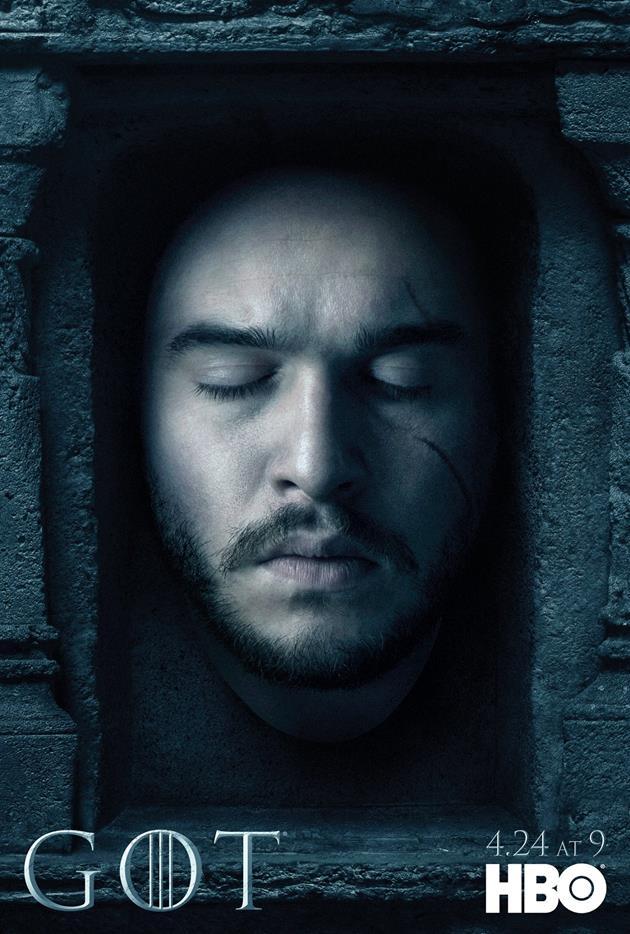 Affiche Promotionnelle - Tête de Jon Snow