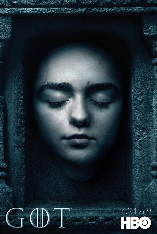 Affiche Promotionnelle - Tête d'Arya Stark