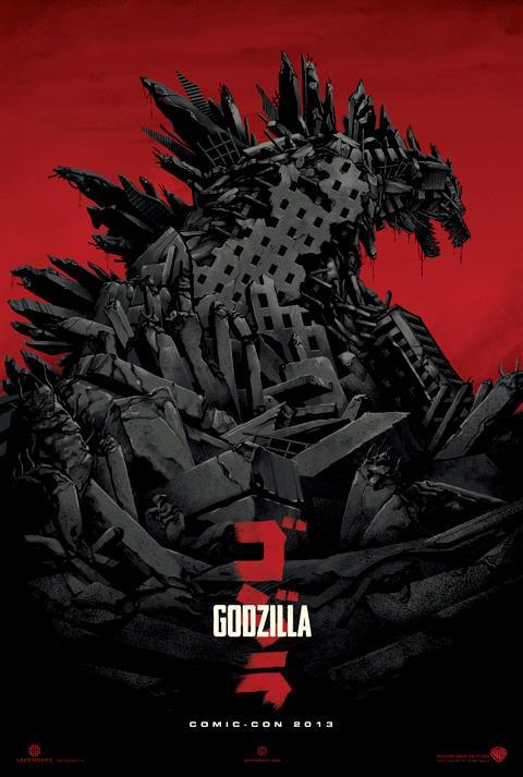 Affiche teaser de Godzilla pour la comic-con 2013