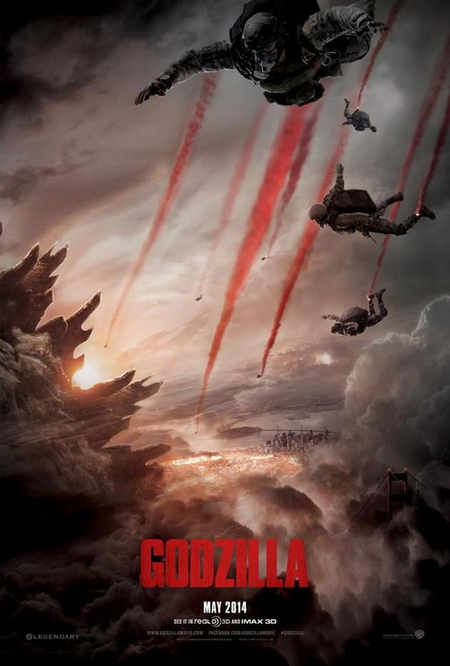 Affiche teaser d'annonce du film Godzilla