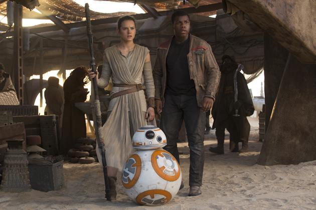 Les nouveaux héros : Rey, BB-8 et Finn