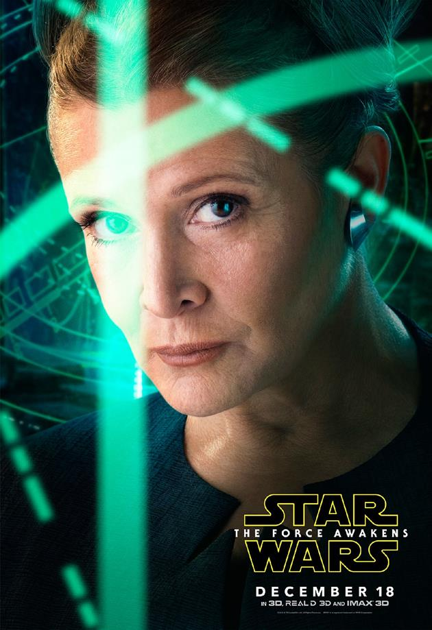 Affiche personnage Leia