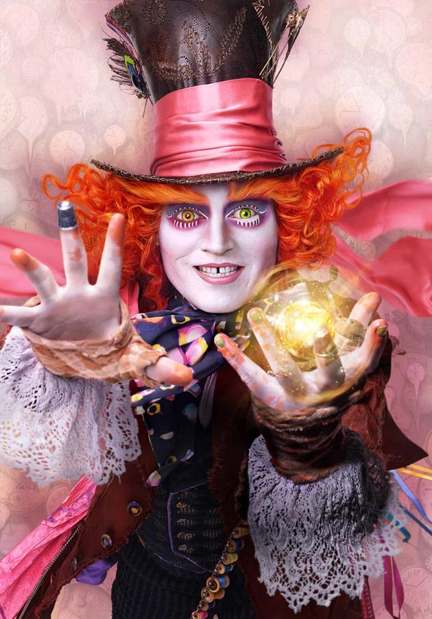 Alice de l 39 autre c t du miroir affiches johnny depp for De l autre cote du miroir