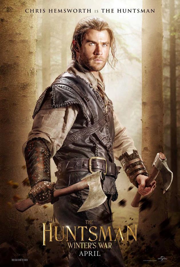 Affiche américaine : Chris Hemsworth est le chasseur