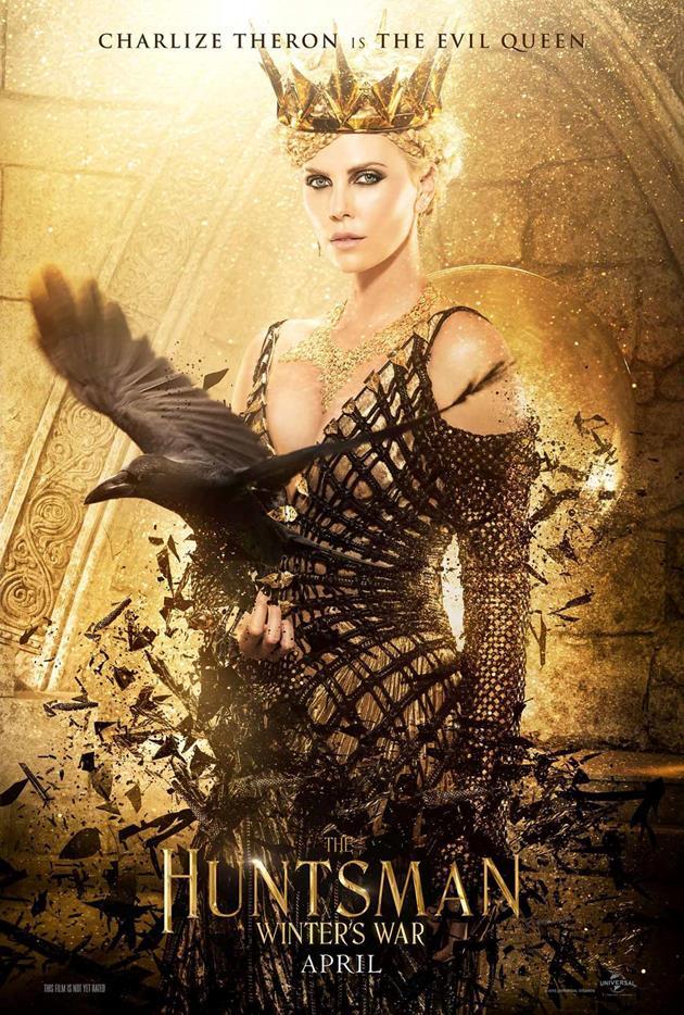 Affiche américaine : Charlize Theron est la méchante reine