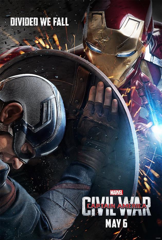 Affiche teaser Américaine : Iron Man vs Captain America