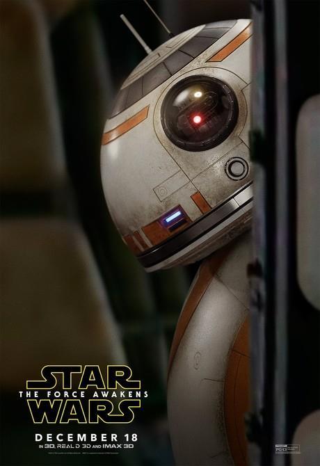 Affiche teaser centrée sur BB-8