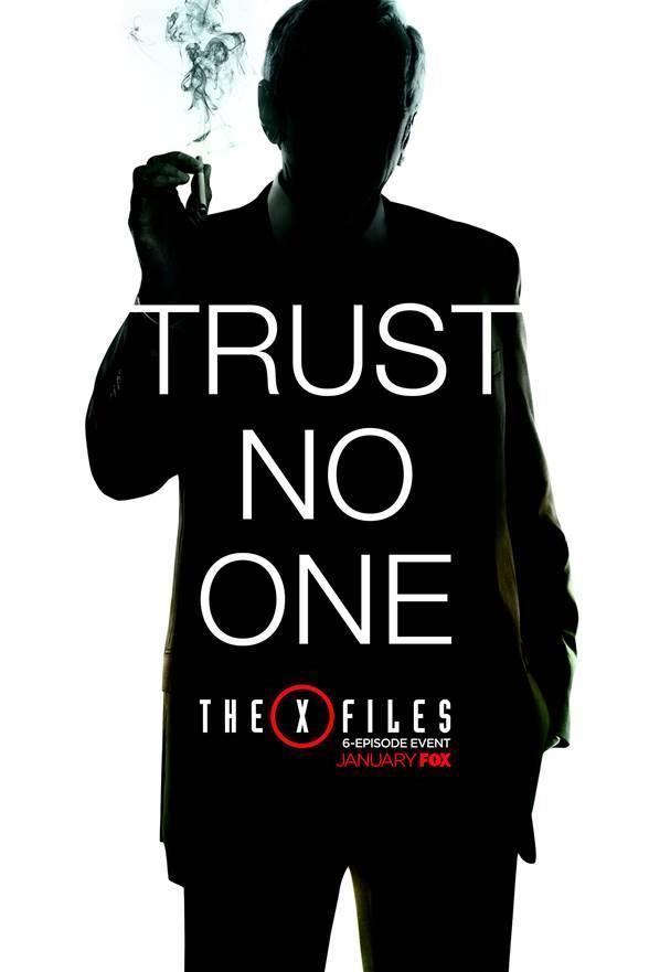 Affiche Trust no One de l'homme à la cigarette