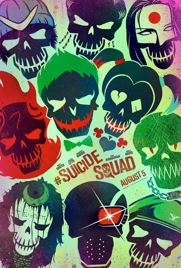 Affiche Suicide Squad - Tous les personnages de l'escadron suicide