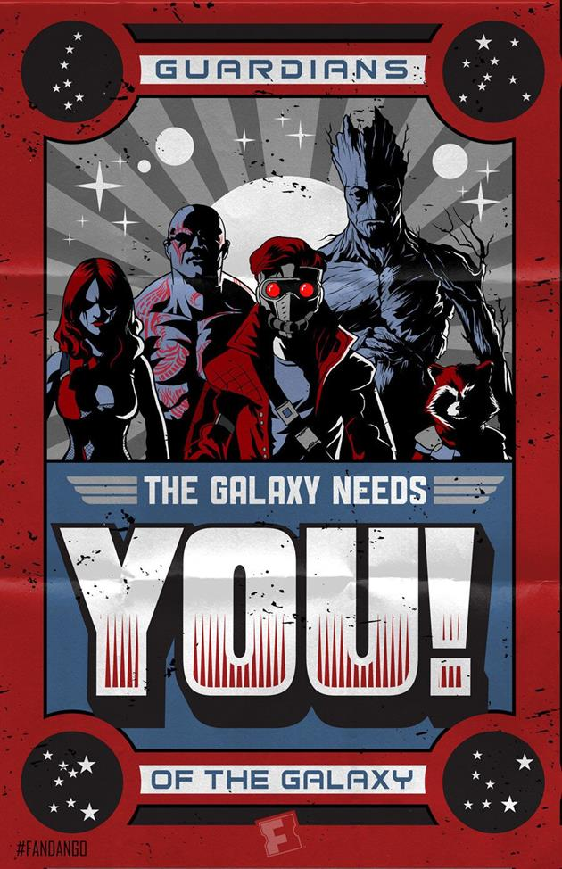 Affiche conceptuelle The Galaxy Needs You