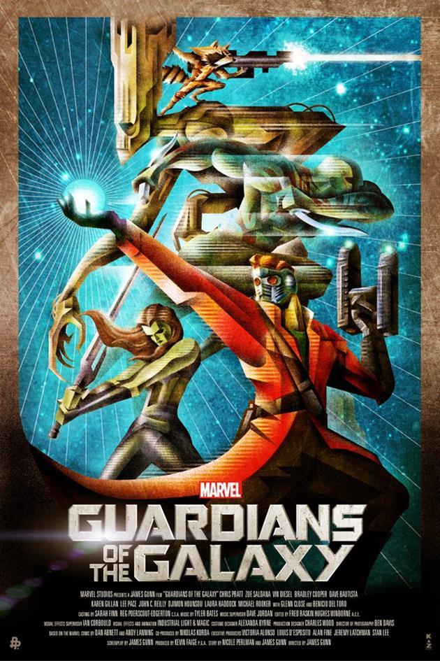 Les gardiens de la galaxie affiches affiche for Affiche deco