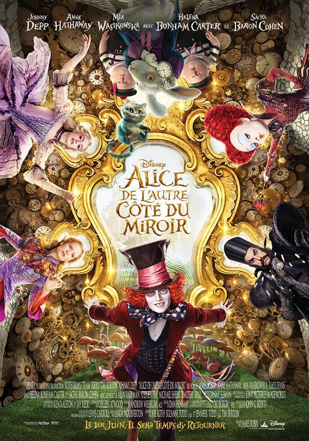 Affiche française d'Alice de l'autre côté du miroir