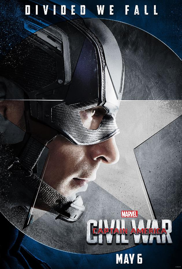 "Affiche ""Divided We Fall"" - Tous avec Captain America"