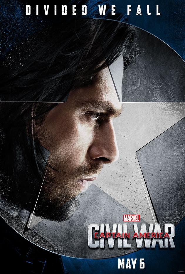 """Affiche """"Divided We Fall"""" - Bucky Barnes du côté du Captain"""
