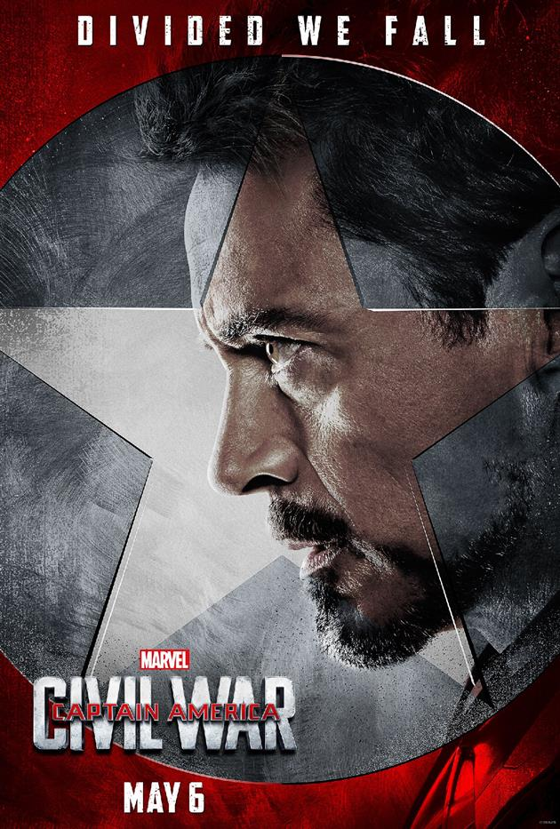 "Affiche ""Divided We Fall"" - Tous avec Tony Stark / Iron Man"