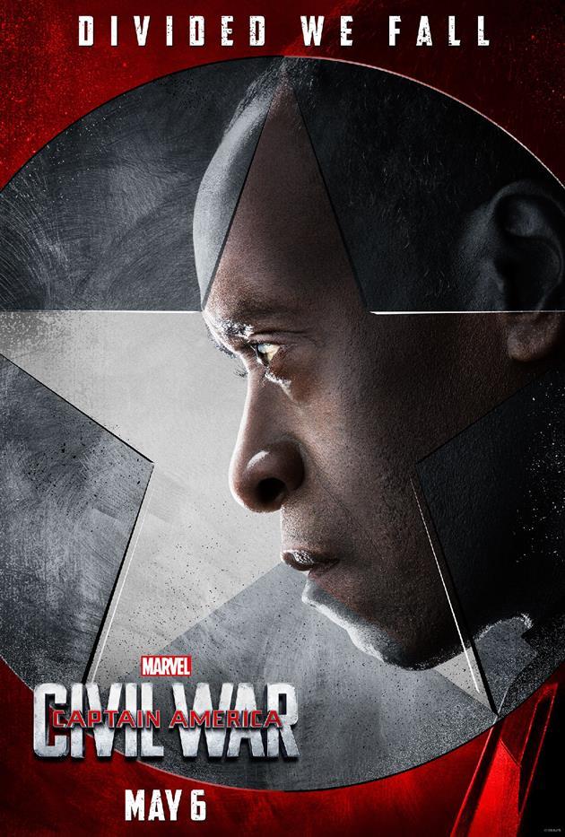 """Affiche """"Divided We Fall"""" - War Machine du côté de Tony Stark"""