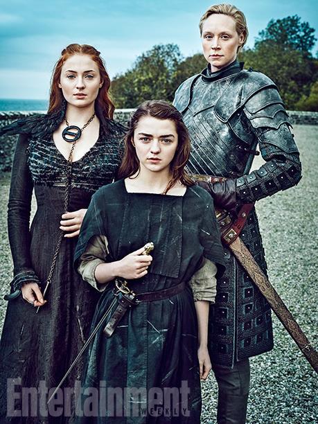 Dame of Thrones - Sensa, Arya et Brienne