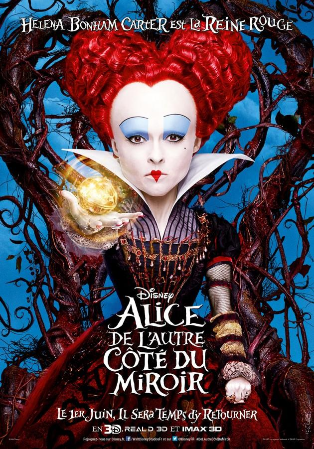 Affiche Helena Bonham Carter est La Reine Rouge