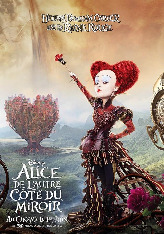 2ème Affiche Helena Bonham Carter est La Reine Rouge