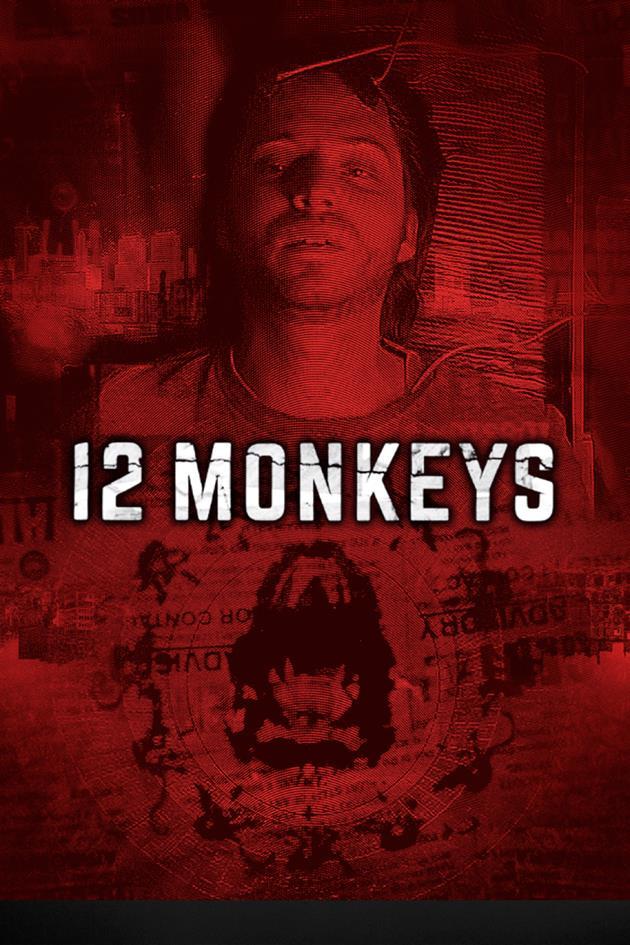 Affiche 12 monkeys voyage dans le temps et journal