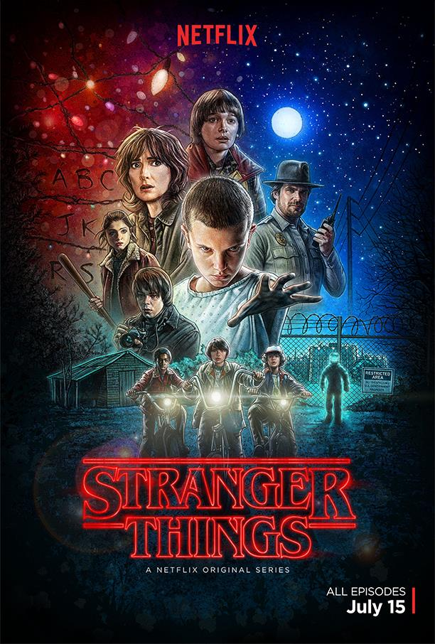 Affiche Netflix pour la série Stranger Things