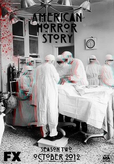 Affiche American Horror Story saison 2 Asylum - Opération sanglante