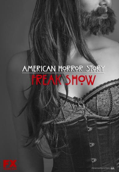 Affiche American Horror Story saison 4 Freak Show - La femme à barbe