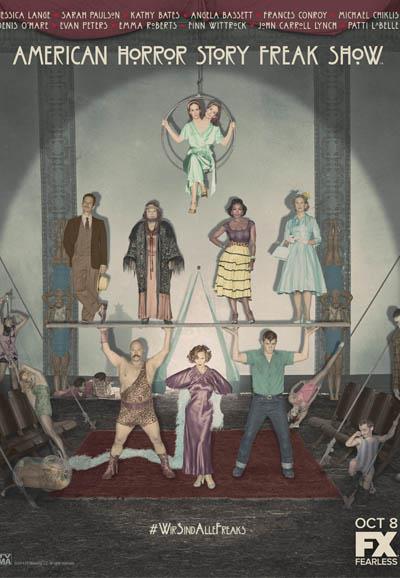 Affiche American Horror Story saison 4 Freak Show - Etoiles du cirque