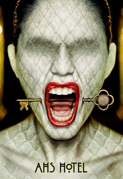 Affiche American Horror Story saison 5 Hotel - Piercing clé et peau matelassée