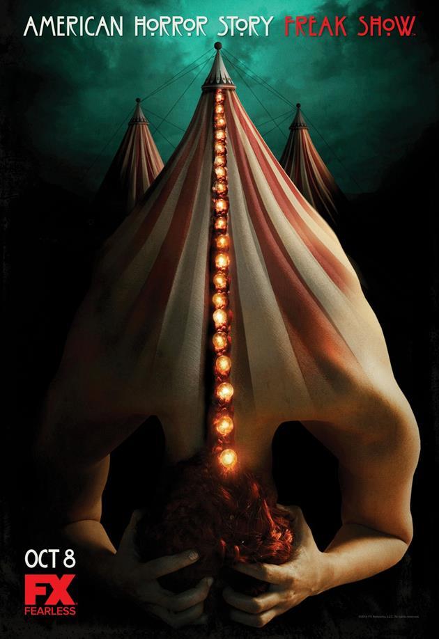 Affiche American Horror Story saison 4 Freakshow - Homme chapiteau