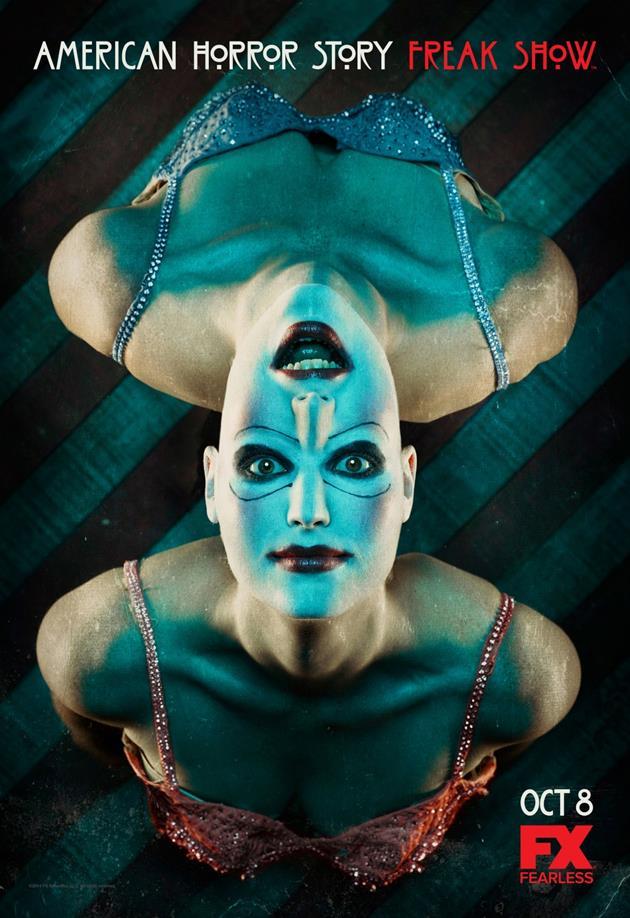 Affiche American Horror Story saison 4 Freakshow - Siamois vue plongeante