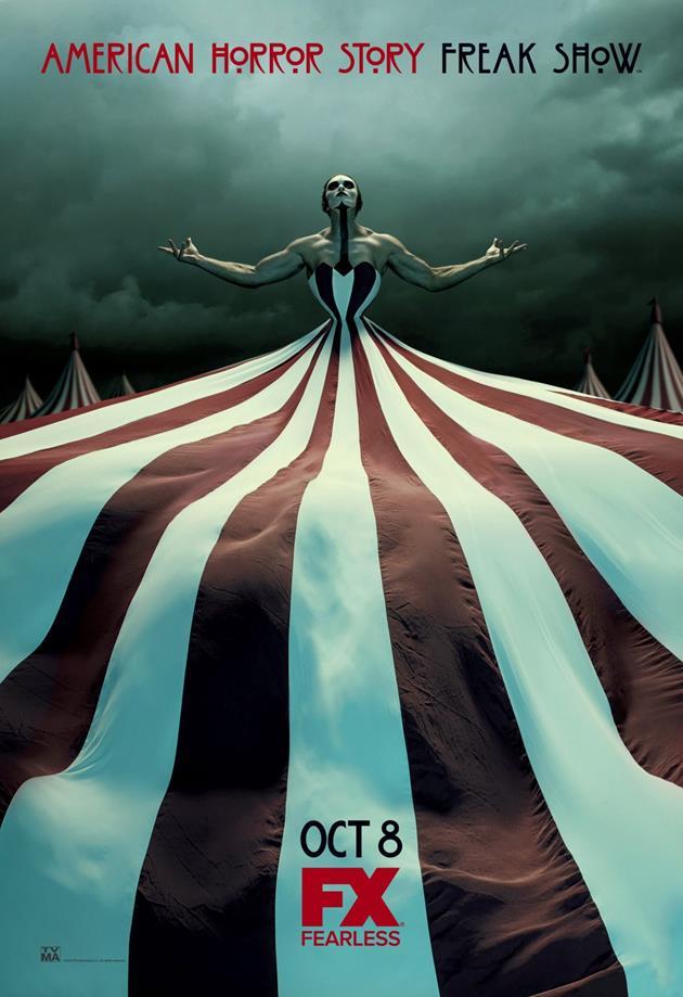 Affiche American Horror Story saison 4 Freak Show - Robe chapiteau