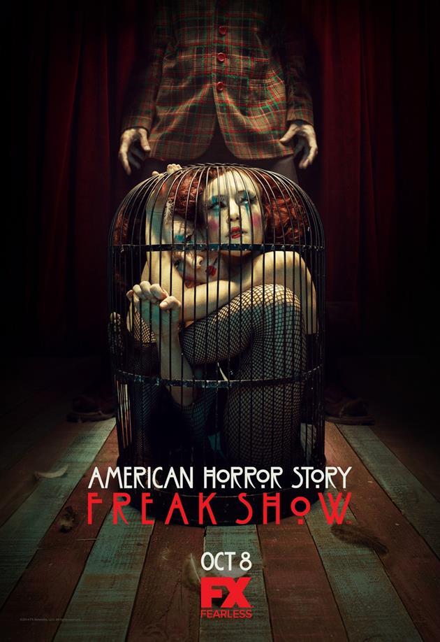 Affiche American Horror Story saison 4 Freak Show - La cage aux femmes