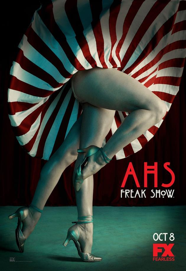 Affiche American Horror Story saison 4 Freak Show - 3 jambes sous les jupes des filles