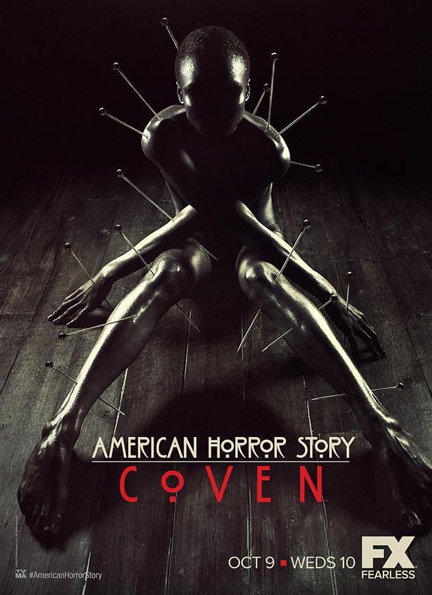 Affiche American Horror Story saison 3 Coven - Clouée au sol