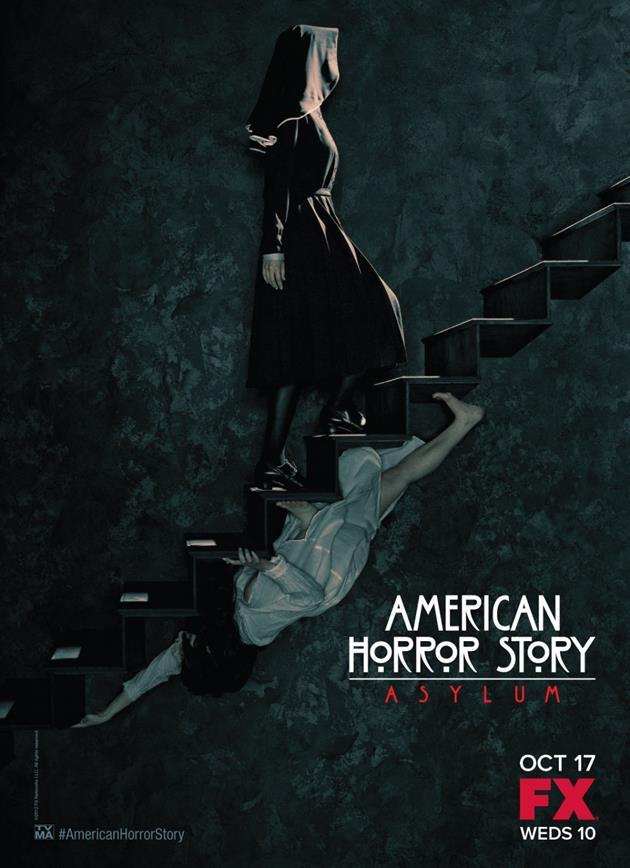 Affiche American Horror Story saison 2 Asylum - Escalier Escher