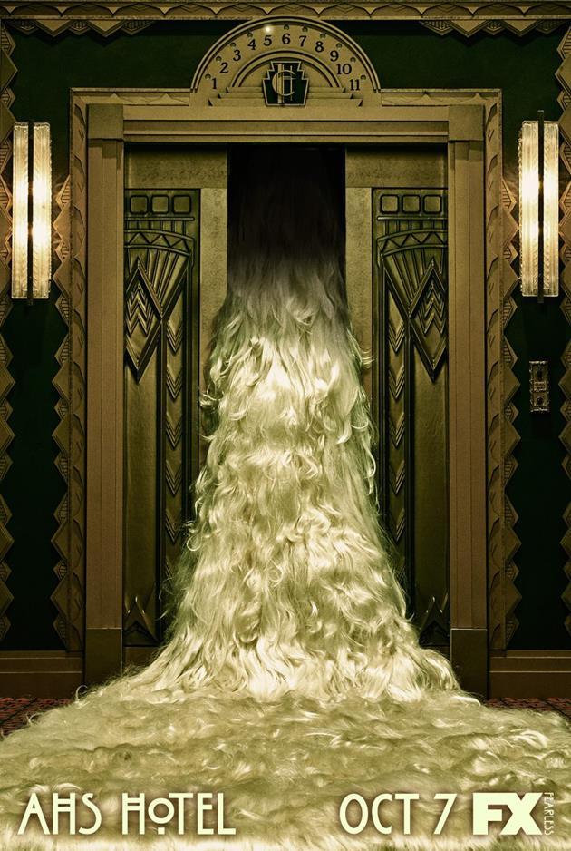 Affiche American Horror Story saison 5 Hotel - Ascenseur vers le 7ème ciel
